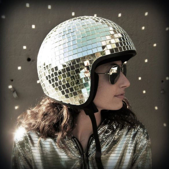 disco ball helmet